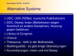 alternative systeme