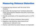 measuring distance distortion