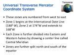 universal transverse mercator coordinate system1