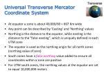 universal transverse mercator coordinate system2