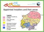 appointed installers and their areas