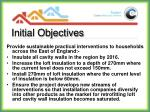 initial objectives