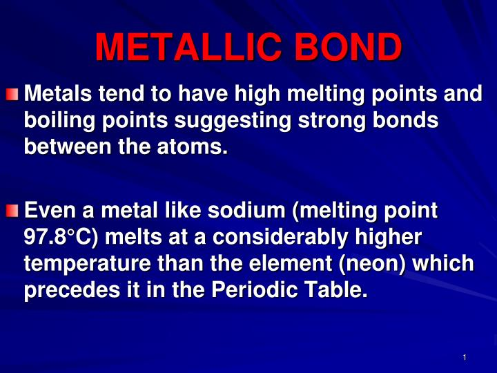 metallic bond n.
