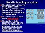 metallic bonding in sodium