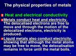 the physical properties of metals1