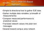 ndt s web100 based approach
