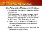 owamp design goals