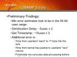 owamp errors