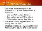 tcp operation on lan