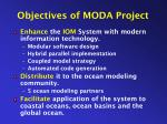 objectives of moda project