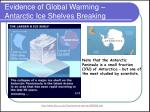 evidence of global warming antarctic ice shelves breaking