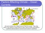 factors affecting climate ocean currents