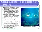 global cooling the eruption of tambora
