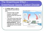 the greenhouse effect greenhouse gases carbon dioxide