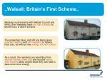 walsall britain s first scheme