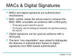 macs digital signatures