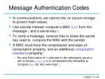 message authentication codes