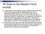 all quiet on the western front excerpt
