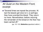 all quiet on the western front excerpt2