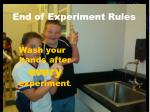 end of experiment rules1