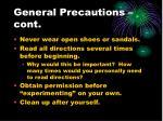 general precautions cont1