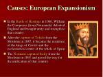 causes european expansionism