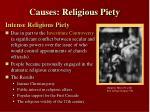 causes religious piety