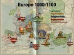 europe 1000 1100