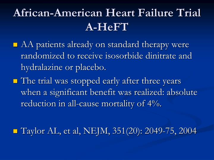 African-American Heart Failure Trial A-HeFT