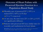 outcome of heart failure with preserved ejection fraction in a population based study1