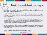 best channel best message1