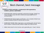 best channel best message2