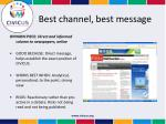 best channel best message3