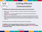 crafting effective communication