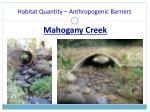 habitat quantity anthropogenic barriers