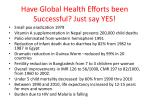 have global health efforts been successful just say yes