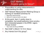ggf nmwg anyone going to seoul