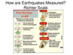 how are earthquakes measured richter scale