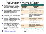 the modified mercalli scale