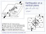 earthquake on a vertical plane