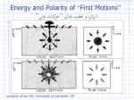 energy and polarity of first motions