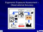 ergonomic exposure assessment observational accuracy
