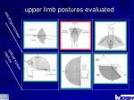 upper limb postures evaluated