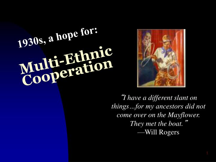 multi ethnic cooperation n.