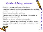 cerebral palsy continued