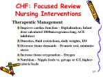 chf focused review nursing interventions