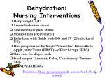 dehydration nursing interventions