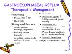 gastroesophageal reflux therapeutic management