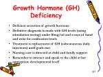 growth hormone gh deficiency