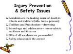 injury prevention safety issues